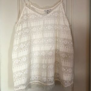 Joie White Lace Tank Top
